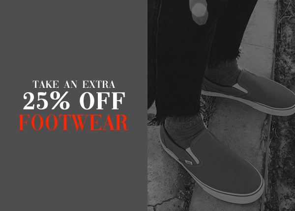 Take an extra 25 percent off Footwear