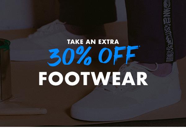 Take an extra 30 percent off Footwear