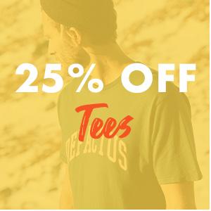 25 percent off Tees
