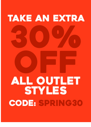 Take an extra 30 percent off all outlet styles. Code: SPRING30