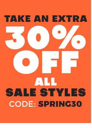Take an extra 30 percent off all sale styles. Code: SPRING30