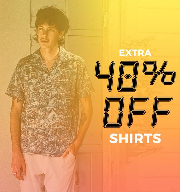 Extra 40 percent off Fashion Shirts