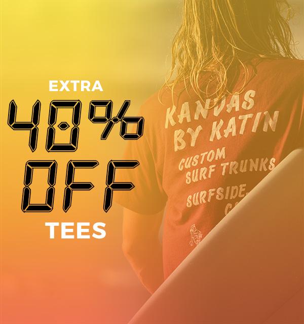 Extra 40 percent off Tees
