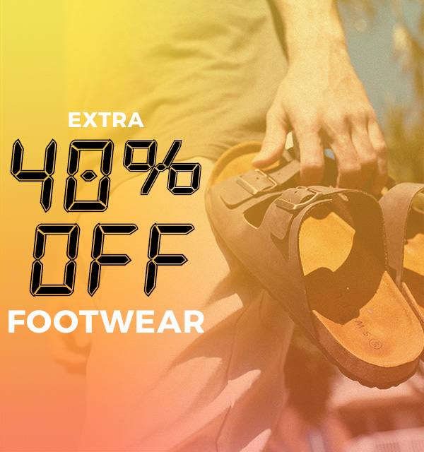 Extra 40 percent off Footwear