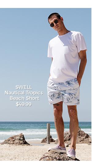 SWELL Nautical Tropics Beach Short