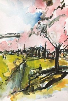 Daniel Clarke - portland waterfront blossoms, 2020
