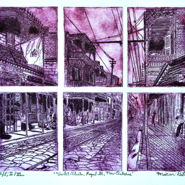 Jerry  Di Falco - violet ghosts of royal street, 2019