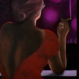 Peter Seminck - lady in red, 2019