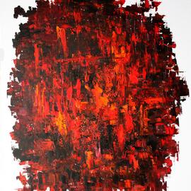 Vladimir Volosov - red and black, 2019