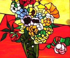 Iva Kalikow - Japanese Vase with Roses, 2020