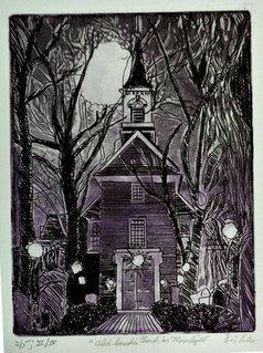 Jerry  Di Falco - swedes church moonlight, 2020