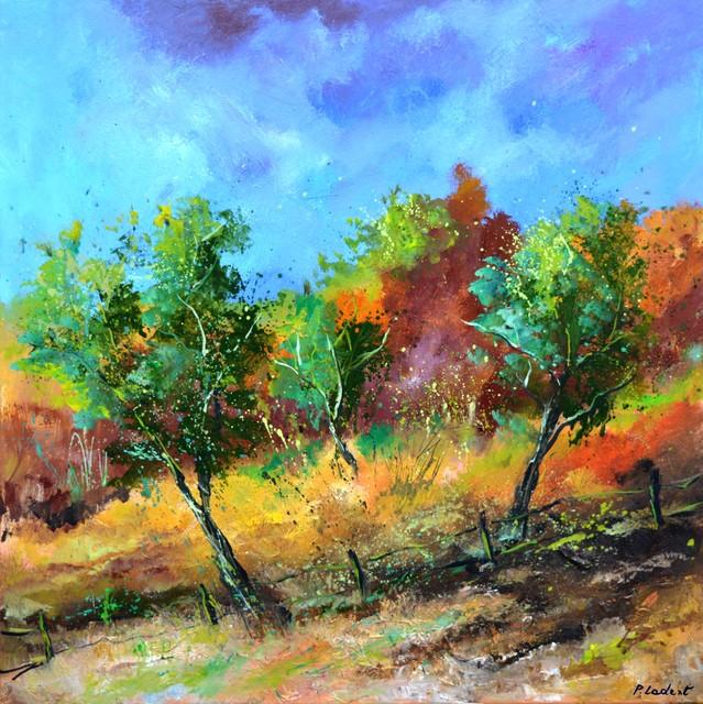 Pol Ledent - orchard in autumn, 2019