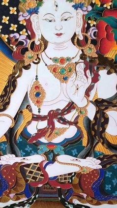 Candice Rongyu - filigree painting thangga, 2019