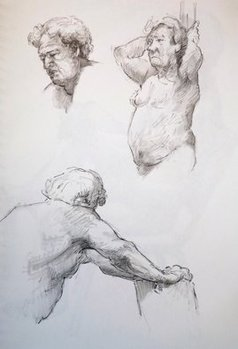 Austen Pinkerton - three studies of john, 2019