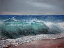 Vladimir Volosov - blue wave, 2020