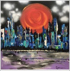 Mac Worthington - sunset over capital, 2020