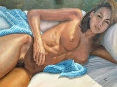 Luiz Henrique Azevedo - lying nude, 2019