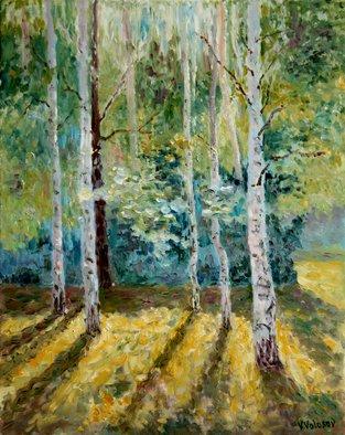 Vladimir Volosov - long shadows in the forest, 2016
