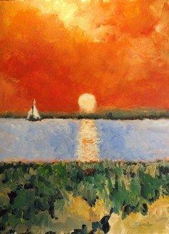 Daniel Clarke - nile sunset, 2020