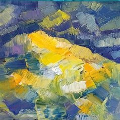 George Grant - yellow mountain, 2020