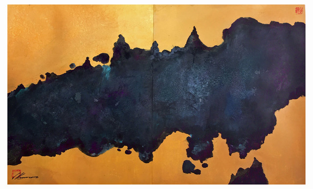 Walther Von Krenner - abstract on gold, 2020