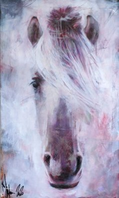 Igor Shulman - portrait of old horse, 2020