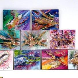 Valda Fitzpatrick - small abstract panels, 2019