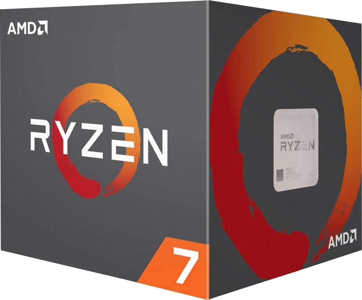 AMD Ryzen 7 3800X CPU with Wraith Prism cooler (7NM, 8/16 Cores/Threads, 3.9GHz Base, 4.5GHz Boost, Socket AM4, 105W TDP Desktop Processor), Model 100-100000025BOX