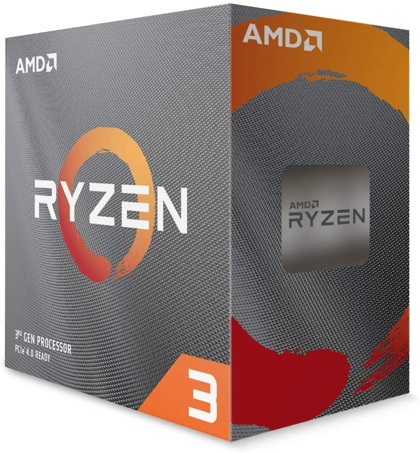 AMD Ryzen 3 3100 4-Core, 8-Thread Unlocked Desktop Processor with Wraith Stealth Cooler [100-100000284BOX]