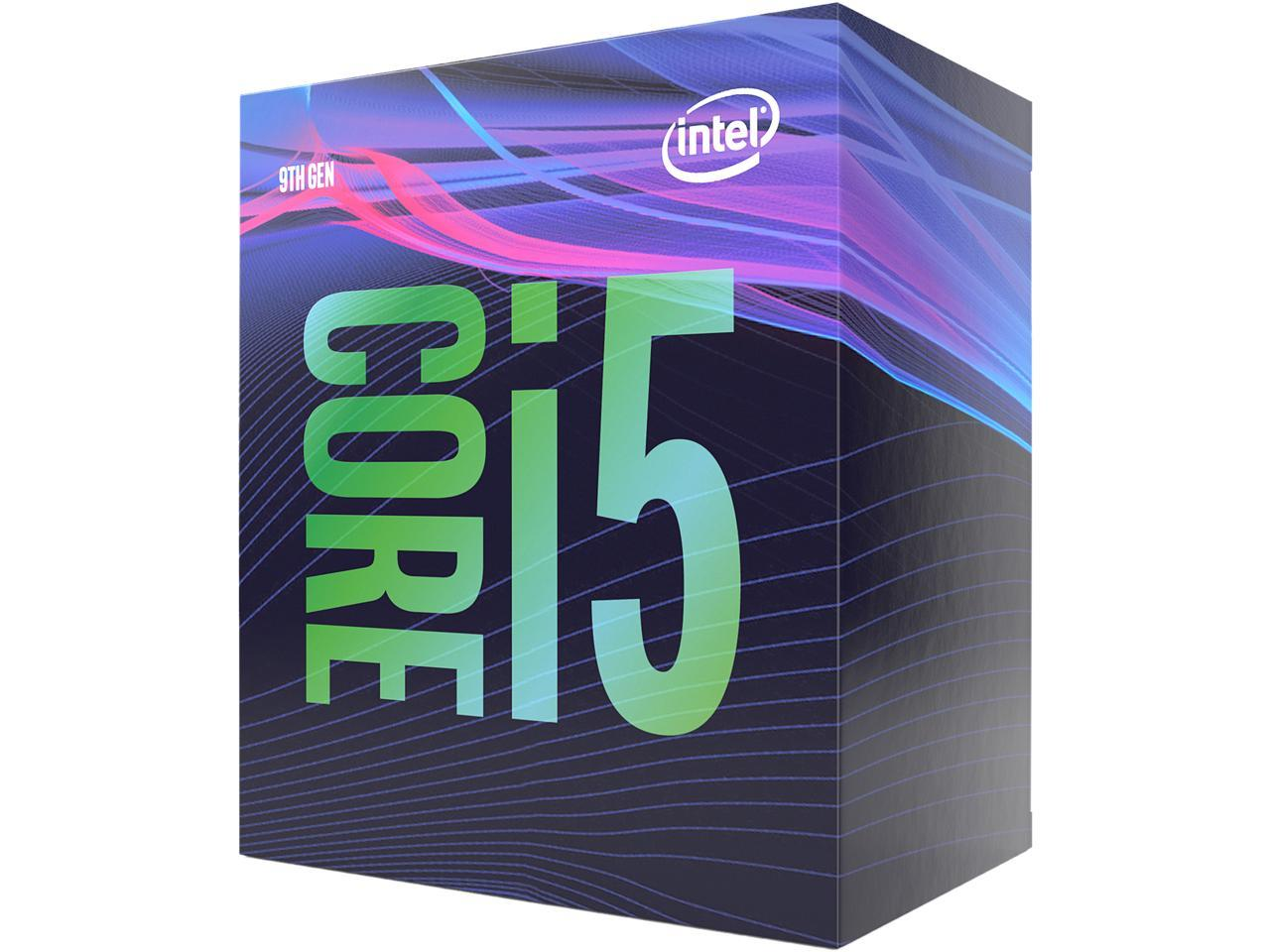 Intel 9th Generation Core i5-9400 CPU (Coffee Lake, 6/6 Cores/Threads, 2.9GHz Base, 4.1GHz Boost, Socket LGA 1151 (300 Series), 65W TDP Desktop Processor), Model BX80684I59400