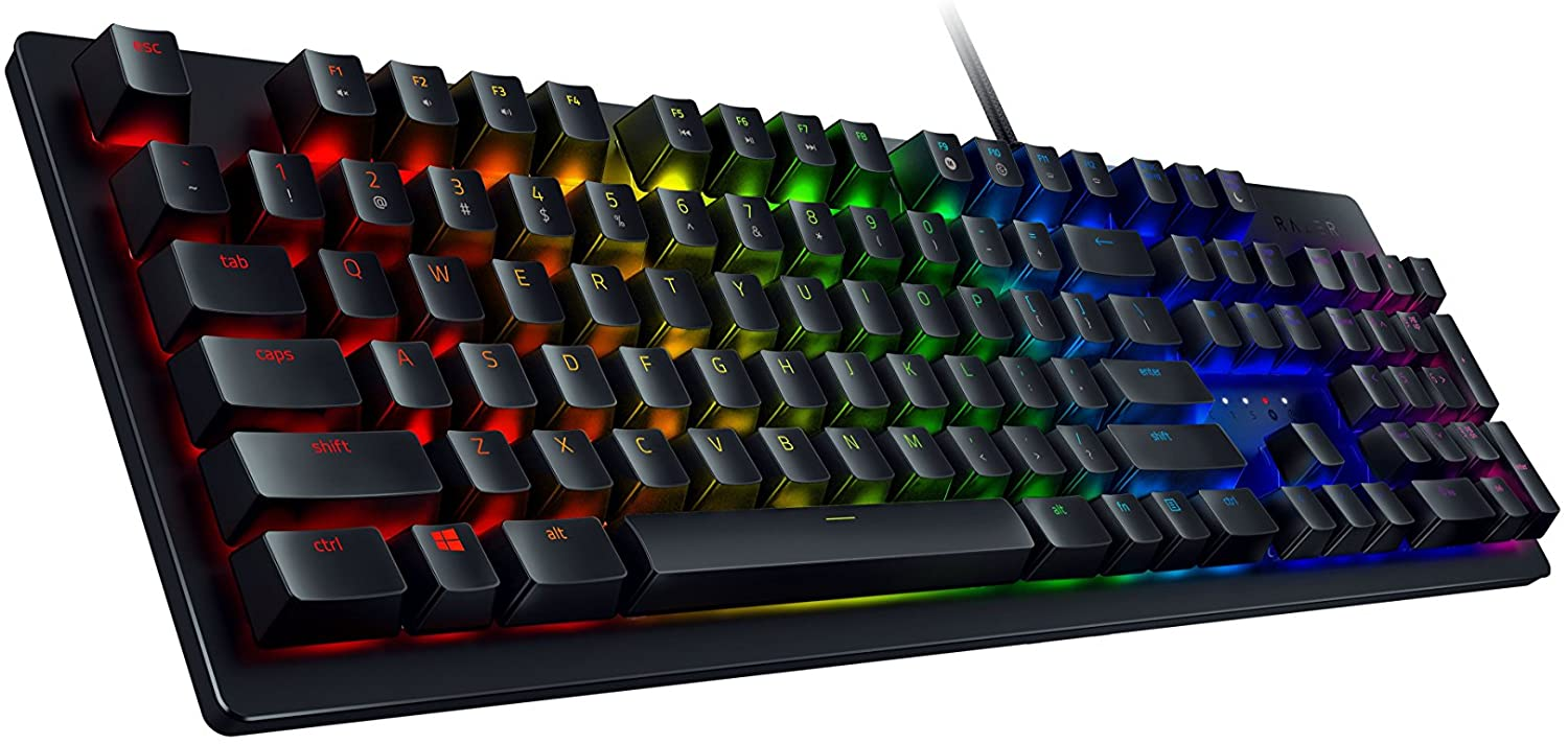 Razer - Huntsman Wired Gaming Opto-Mechanical Switch Keyboard with Chroma Back Lighting [RZ03-02520200-R3U1]