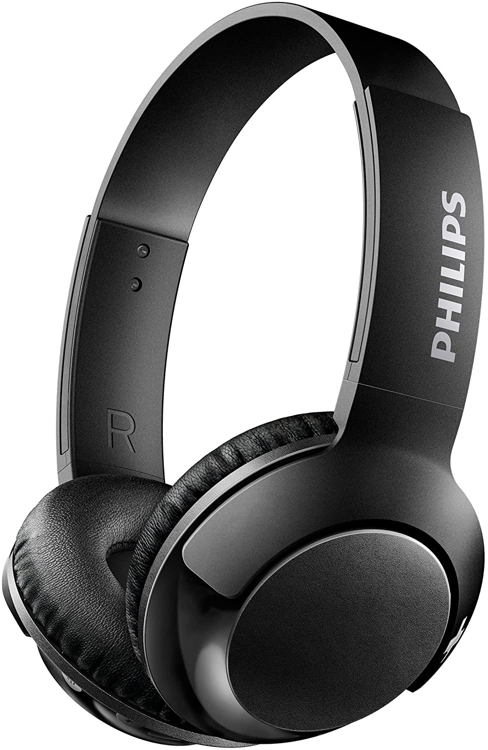 Philips BASS+ On Ear Wireless Bluetooth Headphones with Mic - Black