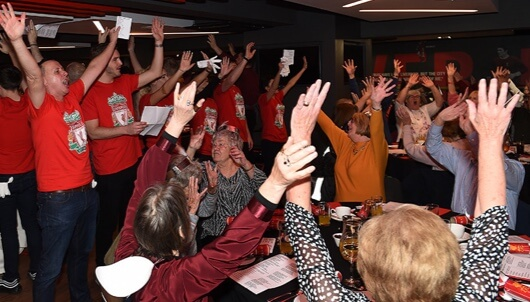 Local pensioners enjoy Christmas lunches at Anfield
