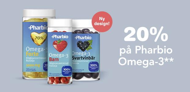 20% på Pharbio Omega-3