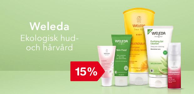 15% rabatt på Weleda