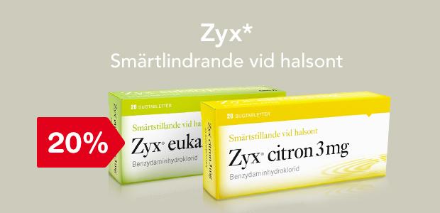 20% på Zyx