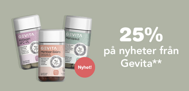 25% på nyheter från Gevita