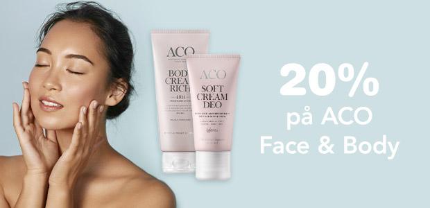 20% på ACO Face & Body