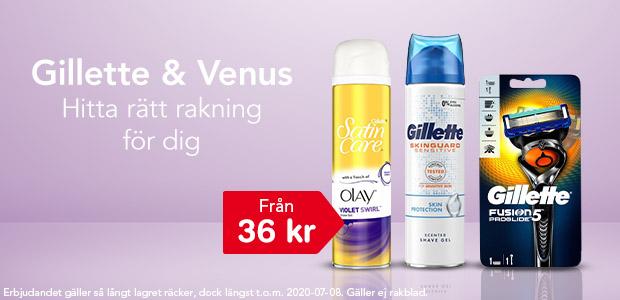 Gillette & Venus - nu 20% rabatt