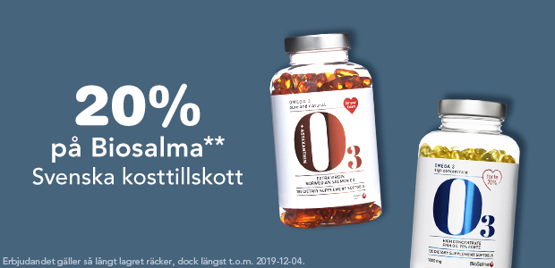 20% på Biosalma**
