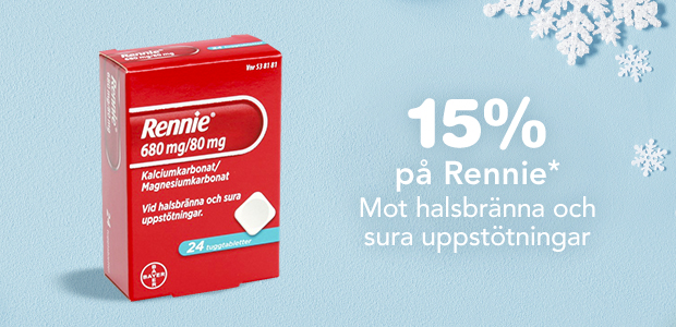 15% på Rennie*