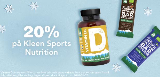 20% på Kleen Sports Nutrition**
