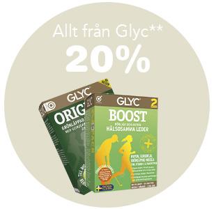 20% på allt från GLYC