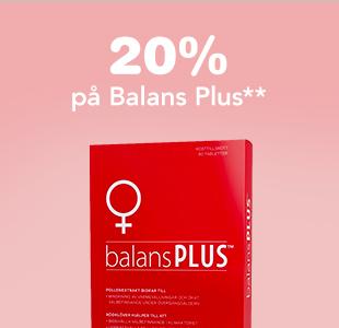 20% på Balans Plus