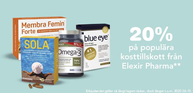 20% rabatt på Elexir Pharma