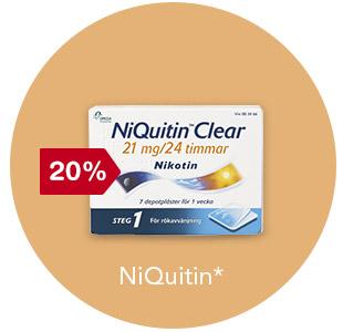20% rabatt på Niquitin
