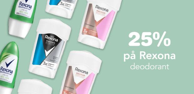 25% på Rexona deodorant