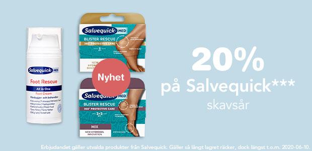 20% rabatt på Salvequick skavsår