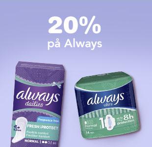 20% på Always