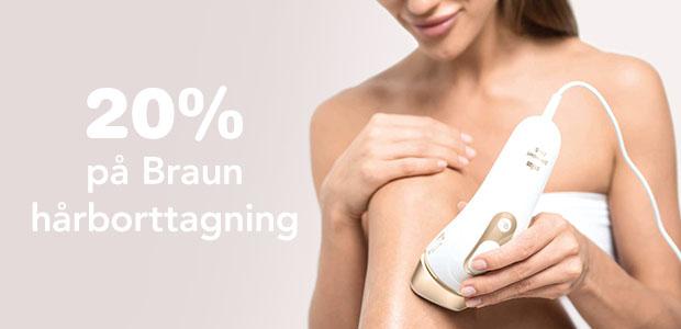 20% på Braun hårborttagning